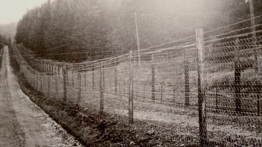 Uzavřené hraniční pásmo na fotografii Huberta Babora (Prášilsko). Foto: Paměť národa