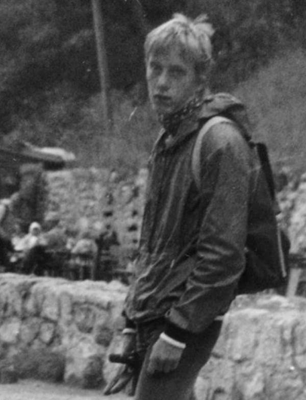 Tomáš Šponar jako student.