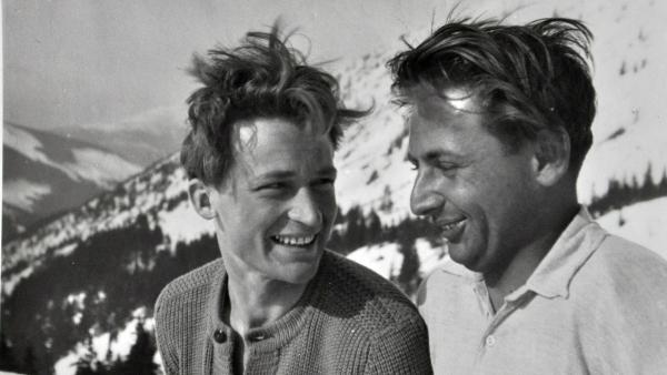 Antonín Zelenka v leteckém svetru, Luční Bouda, 1947. Zdroj: archiv Antonína Zelenky