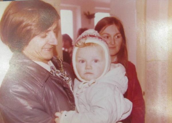 Drahomíra Šinoglová se synem v roce 1976.