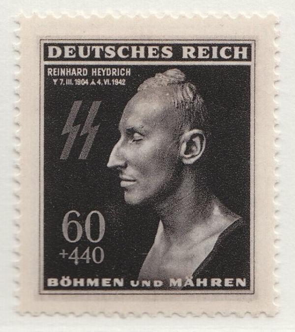 Protektorátní známka z roku 1943. Zdroj: Public Domain/CC0