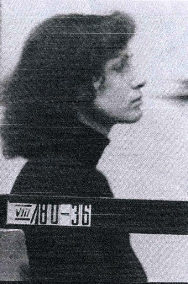 Angelika Cholewa ve vyšetřovací vazbě v NDR, 1980.Zdroj: Archiv pamětnice