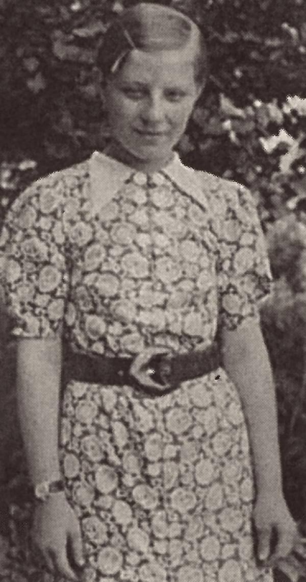 Anna v šestnácti letech. Foto: Paměť národa/archiv dcery PhDr. Helen Volet