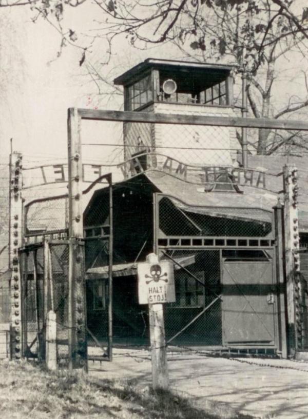 Pohlednice z Osvětimi, kterou v roce 1958 poslala Zuzana Milošovi.
