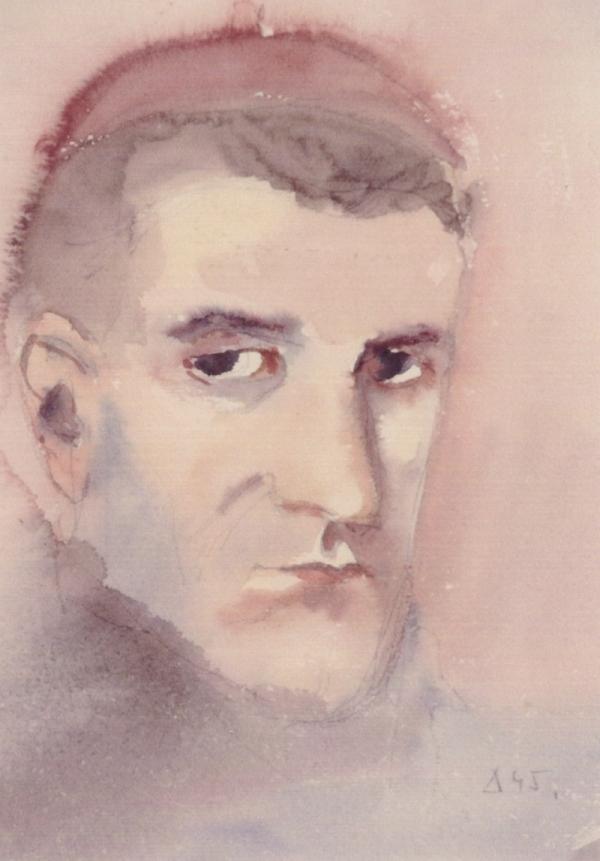Benedikt Vladimír Holota, autoportrét z roku 1945. Foto: Paměť národa