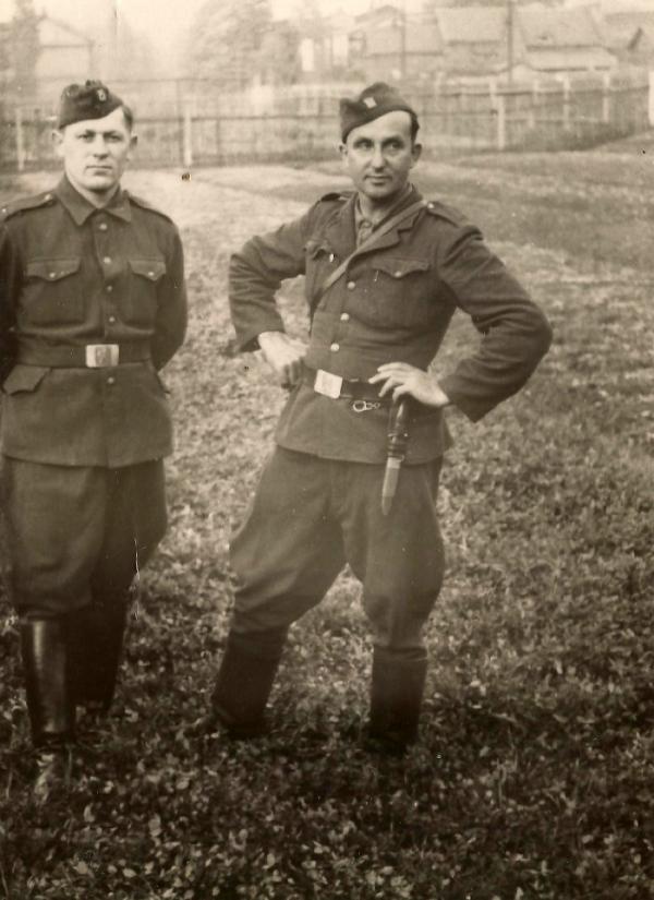 Václav Bešta z Českého Malína v 1. čs. armádním sboru, s nímž došel do Československa.
