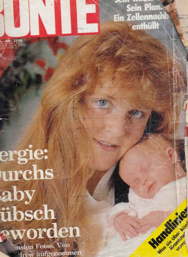 Titulní strana časopisu Bunte s článkem o emigraci rodiny Josefa Hlavatého v roce 1988.
