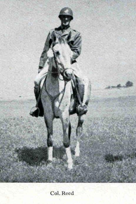 Velitel 2. jezdecké skupiny plukovník Charles Hancock Reed (1900-1980).