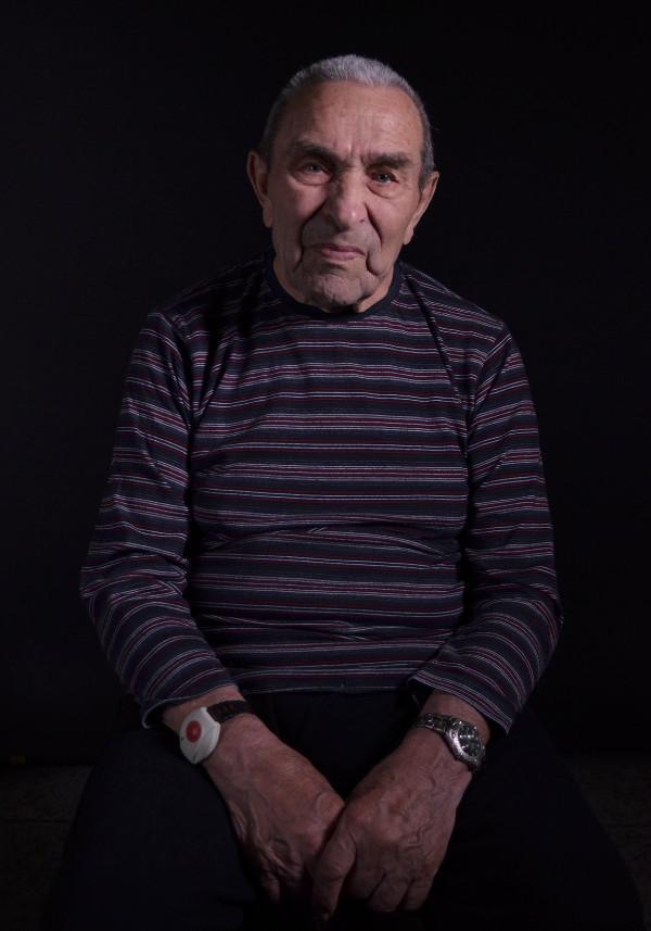 Michal Demjan při natáčení svých vzpomínek v roce 2013.