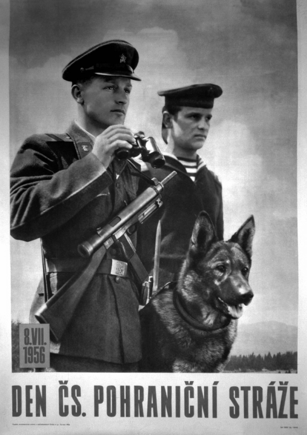 Plakát z roku 1956. Zdroj: ČTK