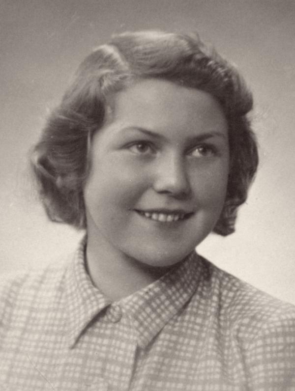 Eva Sachselová v roce 1946. Zdroj: Paměť národa