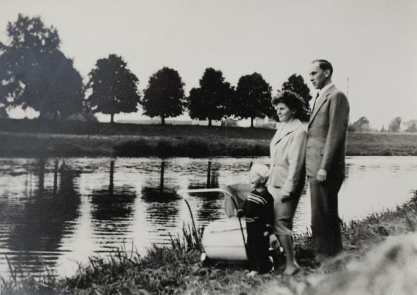 Eva Žárská s manželem a synem v Uherském Hradišti