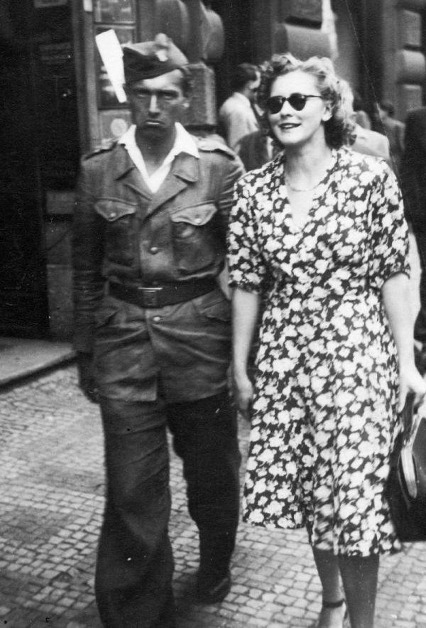 František Miška a Ludmila Píchová v roce 1946.