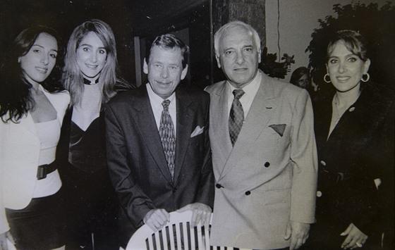 Freddy s prezidentem Václavem Havlem při jeho návštěvě Brazílie v září 1996.