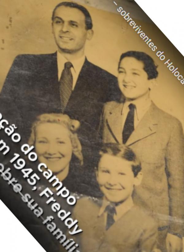 Freddy s rodiči a mladším bratrem před válkou.