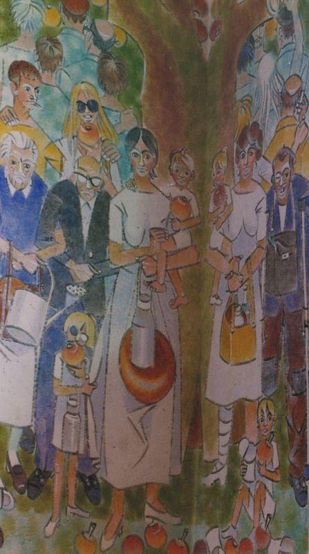Freska Církev svatá v kostele sv. Jana a Pavla v Mistrovicích. Foto: Iva Marková