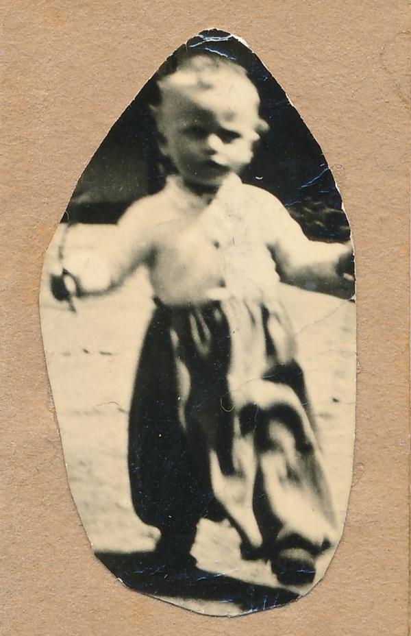 Fotografie Vladimíra Gerlicha, kterou měla jeho maminka v Ravensbrücku. Foto: Paměť národa