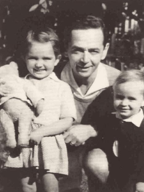 Richard Glazar s dětmi - Pavlou a Richardem. Foto: archív Pavly Glazarové-Fröhlich