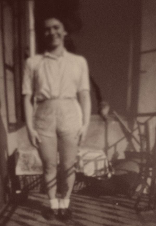 Hana Trávová, tehdy Zentnerová, v roce 1941. Foto: Paměť národa