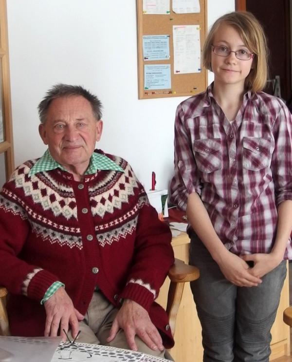 Hugo Fritsch s Alenkou Bruthansovou, která jeho vzpomínky zaznamenala.