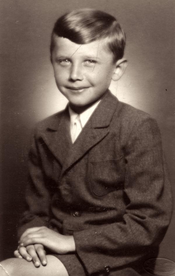 Jan Vodňanský v páté třídě v roce 1950. Foto: Paměť národa
