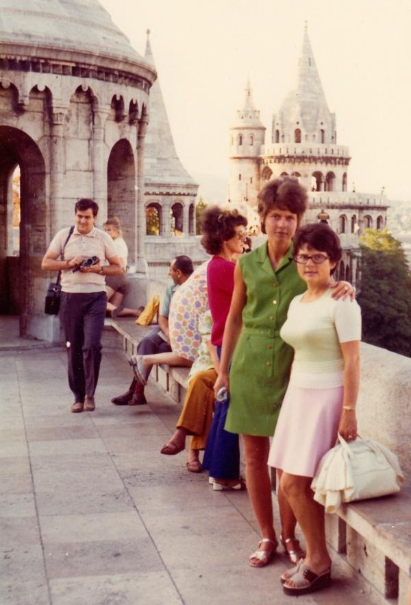 Jana Kociánová s Inge v Budapešti v roce 1972. Foto: Paměť národa