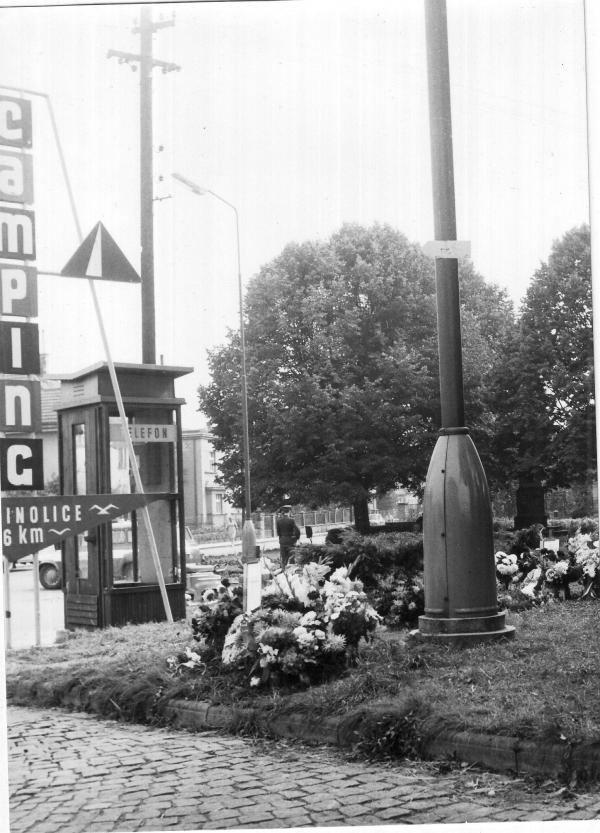 Jičín - místo střelby 7. září 1968