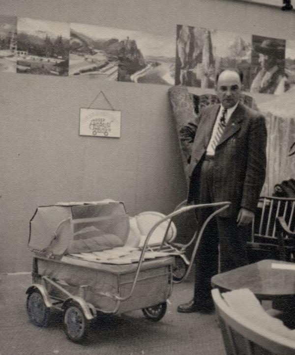 Výrobce kočárků a protikomunistický odbojář Josef Hořejší. Popraven komunisty 7. ledna roku 1950. Zdroj: Paměť národa / archiv dcery Růženy Sojkové rozené Hořejší