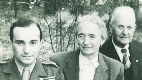 Setkání s rodiči po válce.