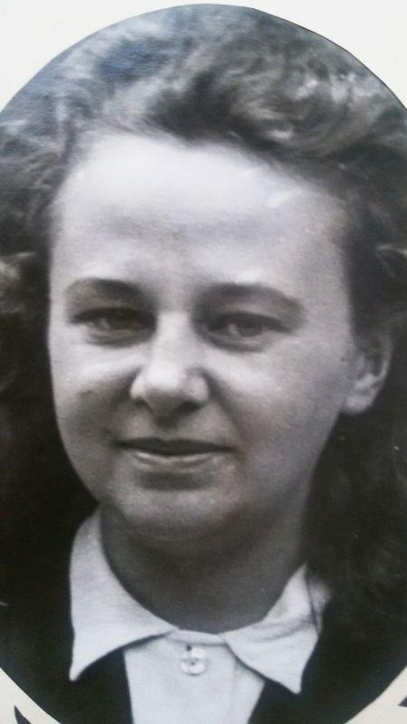 Květa Běhalová, rozená Šebková. Zdroj: Paměť národa / archiv pamětnice