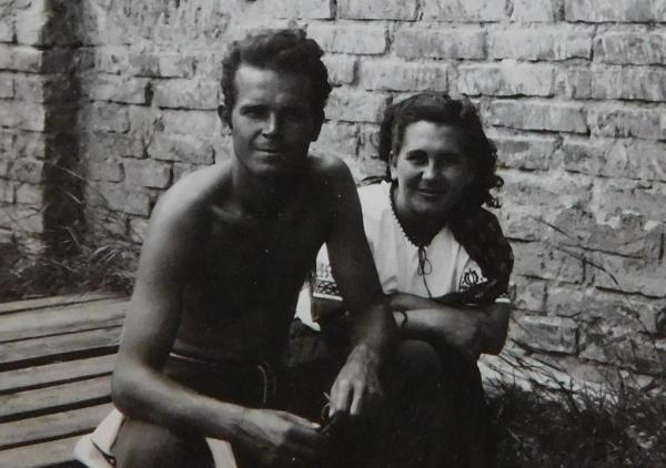 Manželé Ludmila a Václav Švédovi v roce 1948