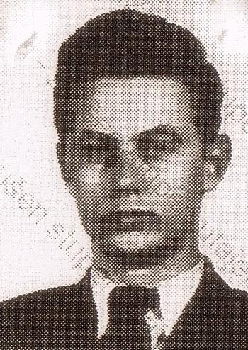 Miroslav Froyda na fotografii z falešného průkazu, který měl u sebe při přechodu hranice v srpnu 1954 (uloženo v Archivu bezpečnostních složek).