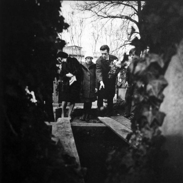 Jan Sokol na pohřbu svého tchána. Foto Ondřej Němec