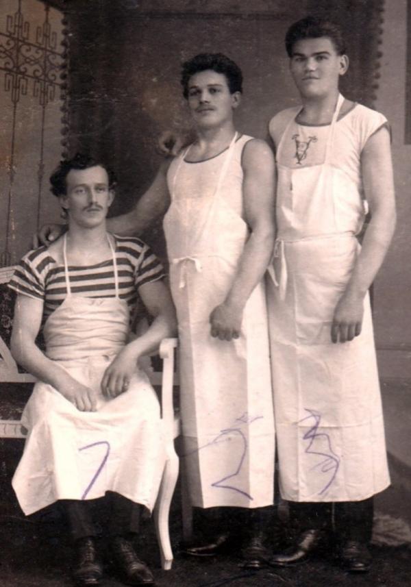Otec Josef Čáslavka jako pekař v roce 1922. Foto: Paměť národa