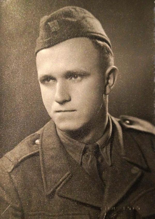 Václav Kulhánek jako člen PTP. Zdroj: archiv pamětníka