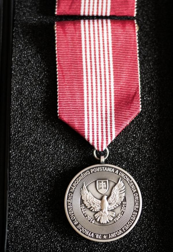 Medaile za účast v protifašistickém odboji. Zdroj: Paměť národa