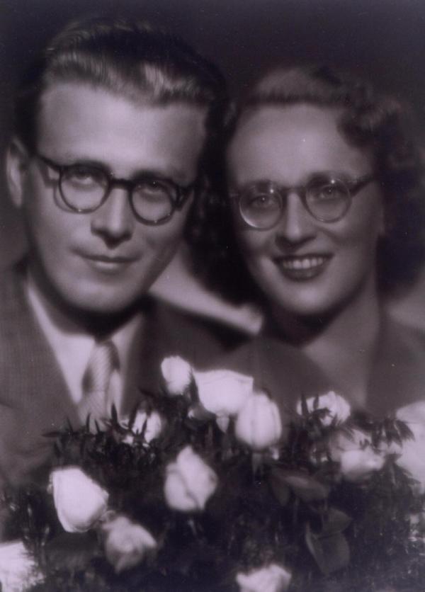 Pavel a Věra Olivovi na svatební fotografii. Foto: Paměť národa