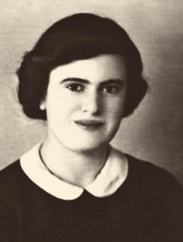 Dora Steinová-Pešková před trasportem do Terezína. Foto: Paměť národa