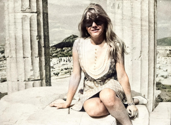 Eva Pilarová v roce 1969 v Aténách. Foto: Paměť národa