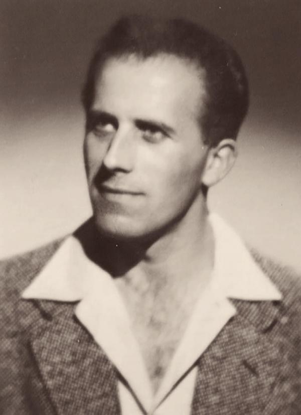 Jiří Lukšíček několik měsíců po návratu z jáchymovských lágrů v roce 1960. Zdroj: Paměť národa