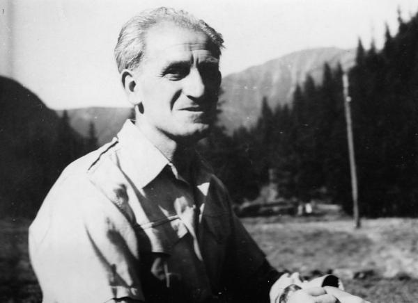 Otec Václav Weitzenbauer na skautském pobytu před svým zatčením. Foto: Paměť národa/archív Dagmar Procházkové