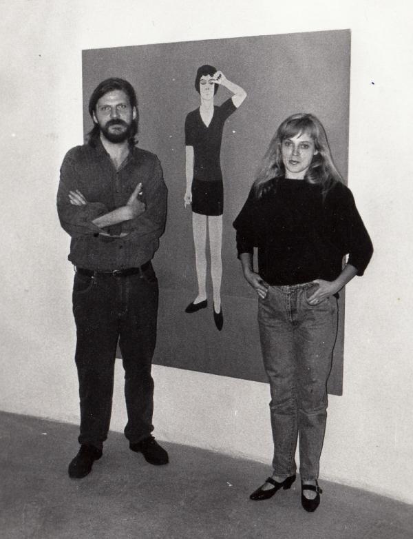 S manželkou Erikou Bornovou v 90. letech. Foto: Paměť národa
