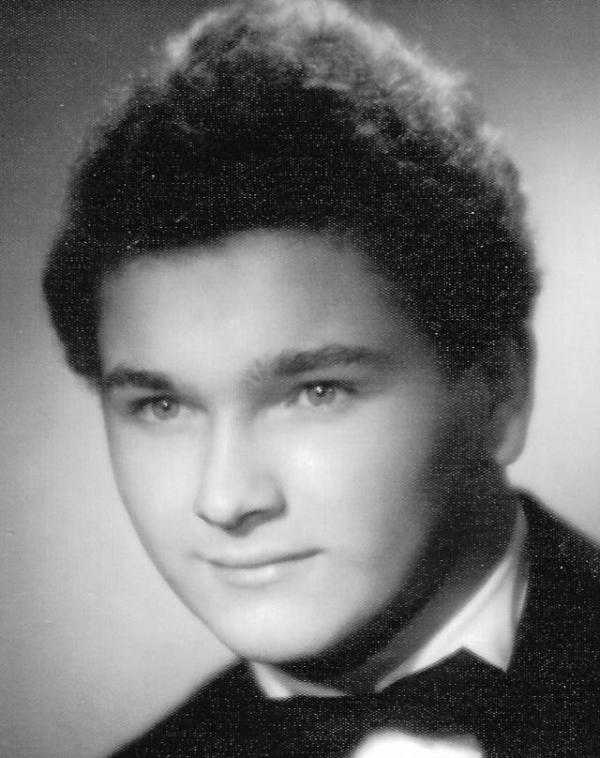 Josef Skála na maturitní fotografii v roce 1959