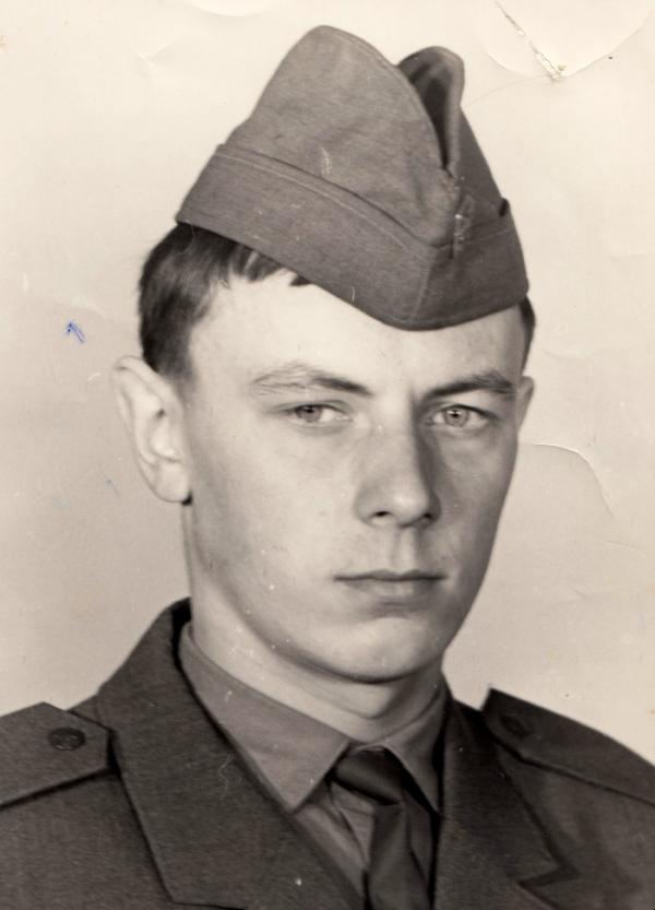 Ondřej Stavinoha na vojně v roce 1975.