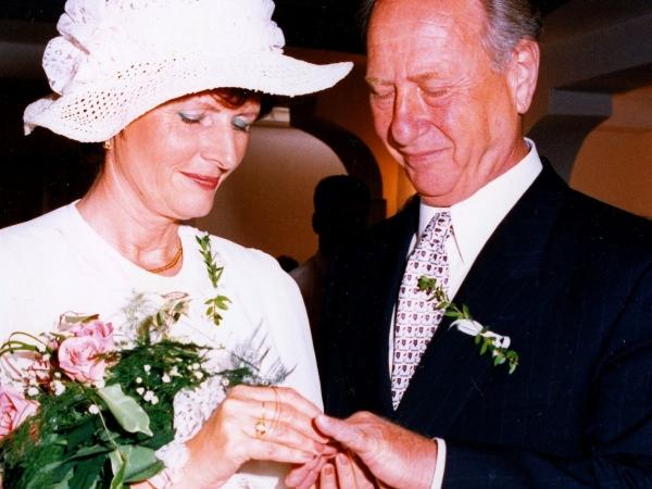 Svatba s druhou manželkou, 1996. Zdroj: Archiv pamětníka