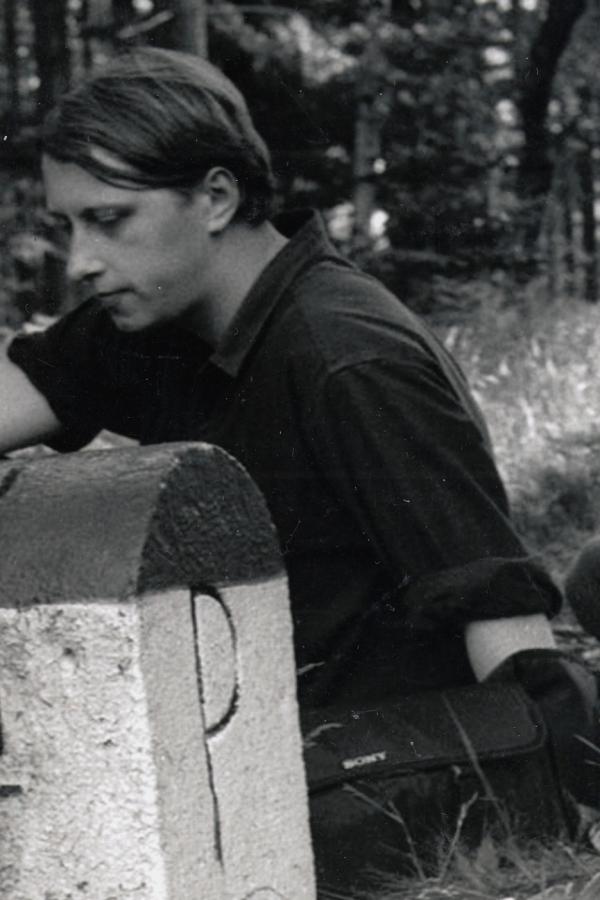 Jáchym Topol na Borůvkové hoře při setkání s polskými disidenty v srpnu 1987. Foto: Paměť národa
