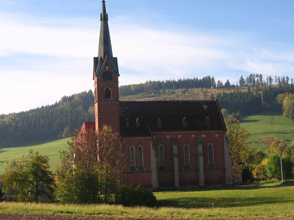 Kostel v Zálesní Lhotě. Foto: Wikimedia Commons