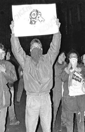 Demonstrace v Teplicích. Zdroj: Žít Teplice