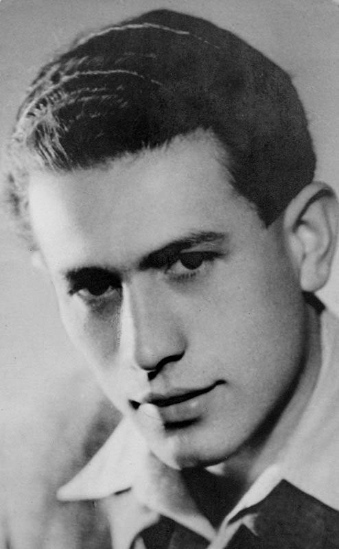Adolf Burger za mlada. V době zatčení mu bylo 24 let.