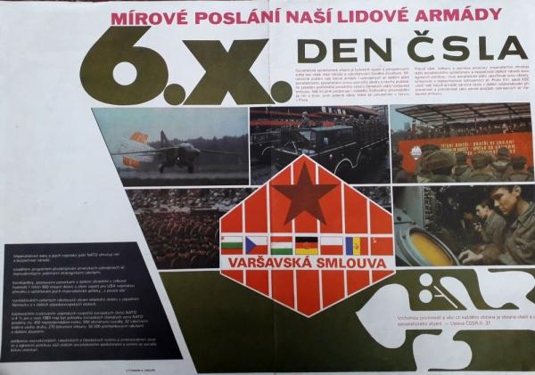 Dobový plakát ke Dni Československé lidové armády.